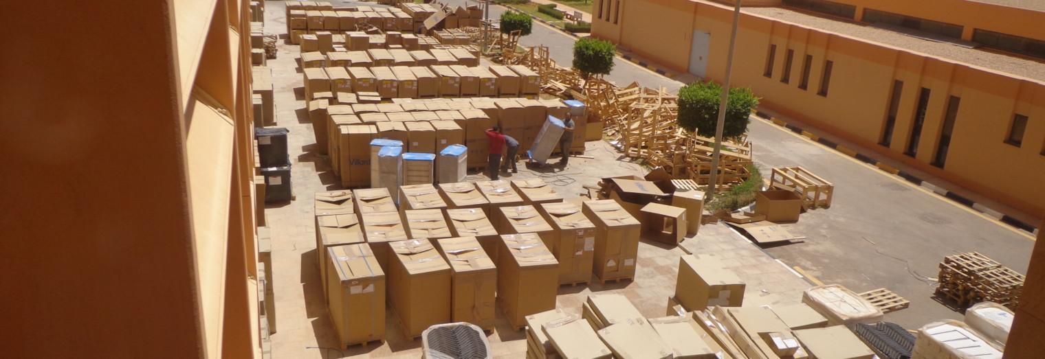 Livraison et logistique de matériels