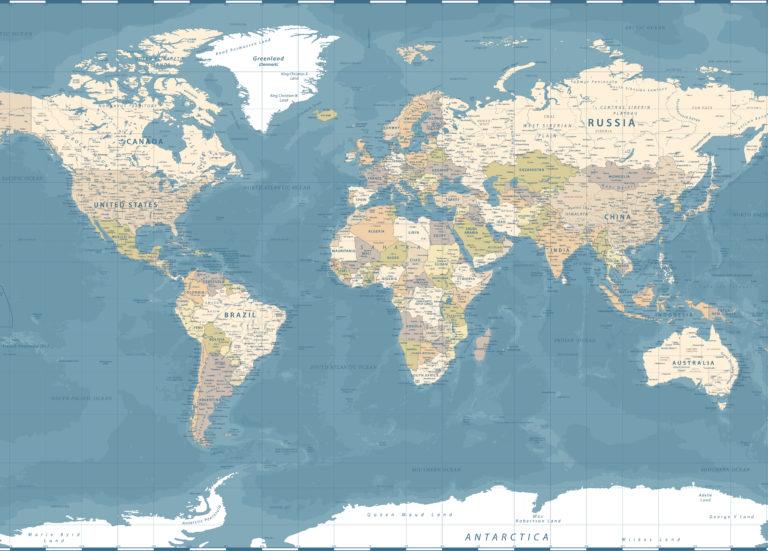 Carte du monde pour illustrer l'étendue s